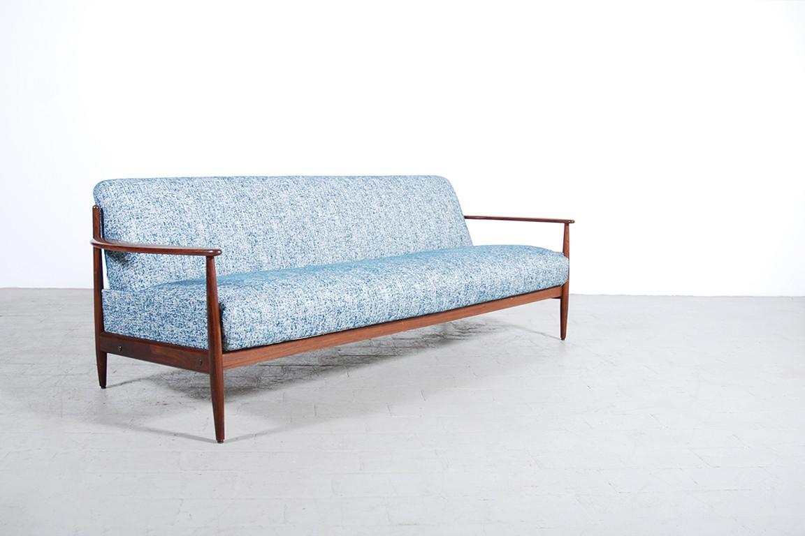 canap cuir vintage 1950 scandinave design danois 1960 - Canape Danois
