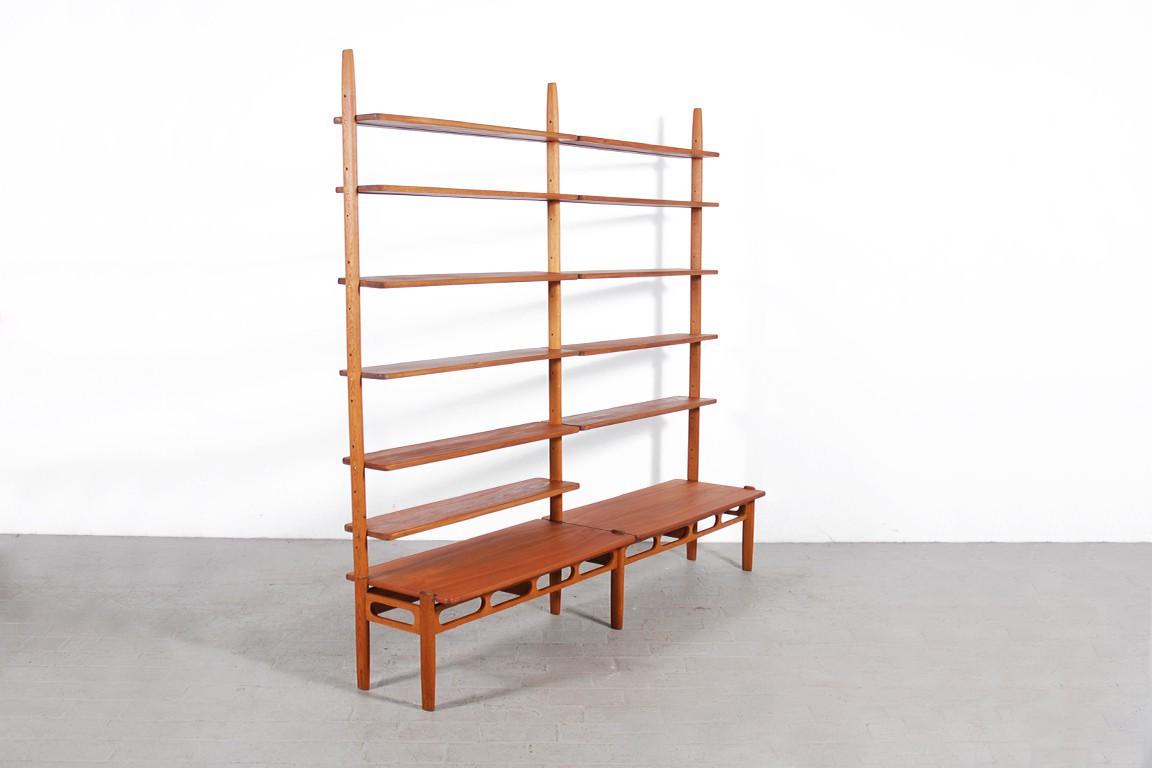 tag re biblioth que scandinave en teck jasper. Black Bedroom Furniture Sets. Home Design Ideas