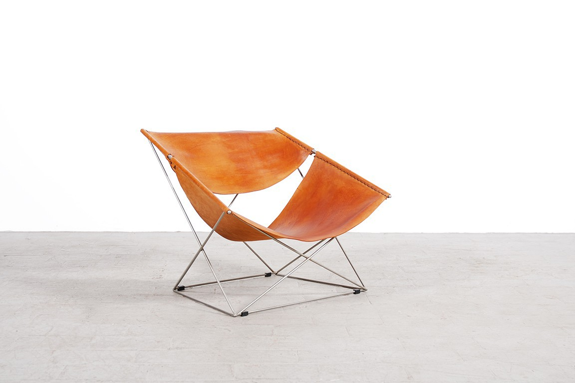 Pierre Paulin Butterfly Armchair F675 1963 Artifort Leather ...