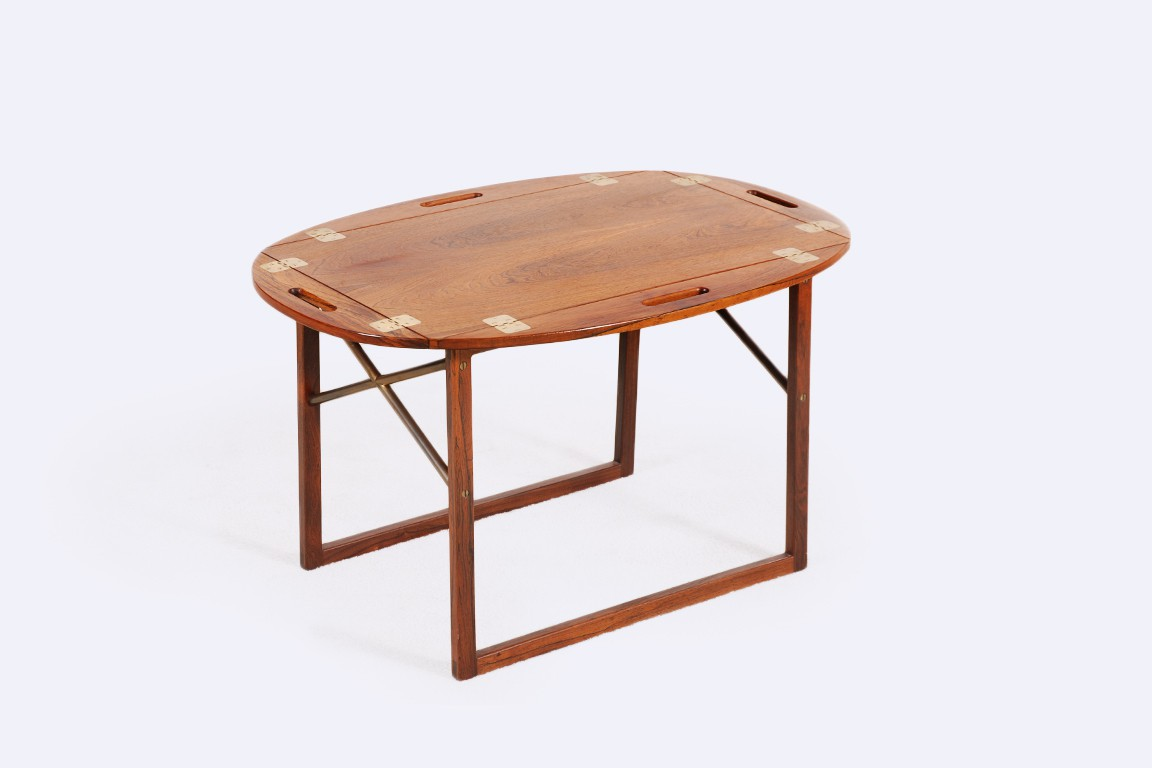 illums bolighus svend langkilde table rosewood tray 1960