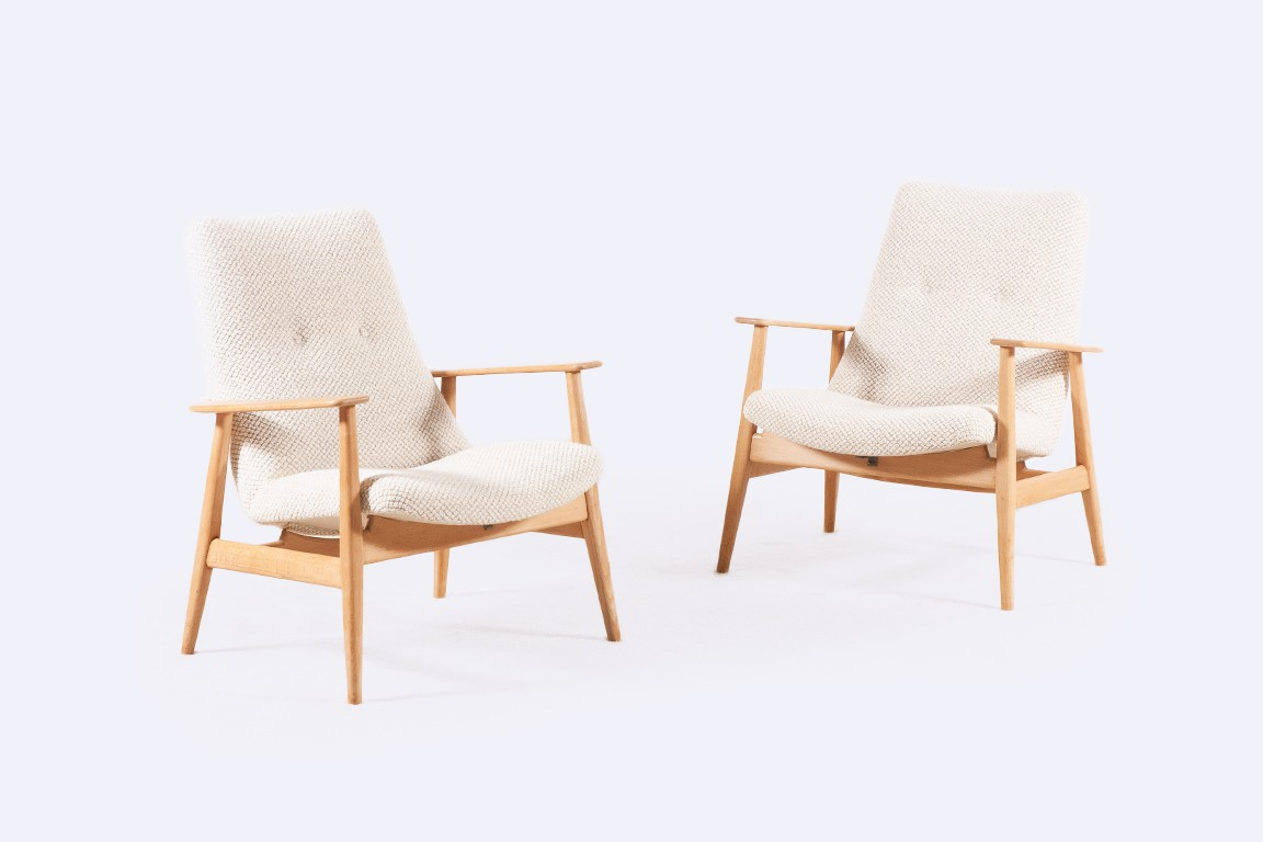 pierre guariche sk660 steiner french armchairs nobilis 1960