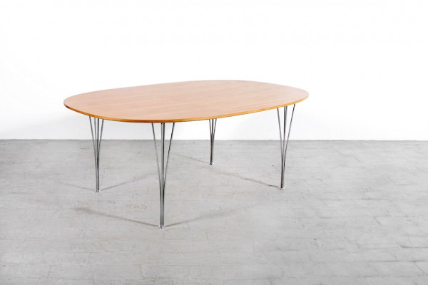 hein mathsson hansen oak super elliptical table 1960 1970