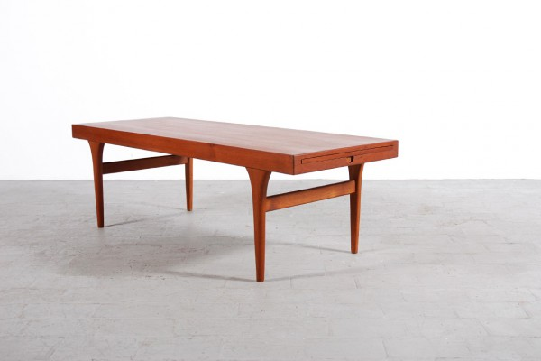 table basse teck scandinave danois 1950 1960 vintage