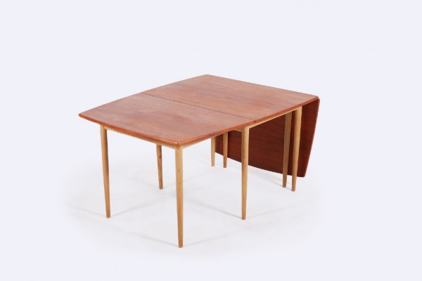 hans wegner dining table oak teak andreas tuck danish 1960