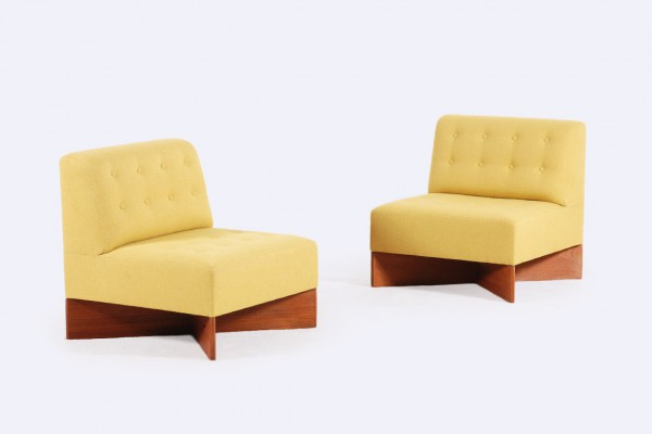 pierre guariche easy chair capitole yellow 1960 minvielle