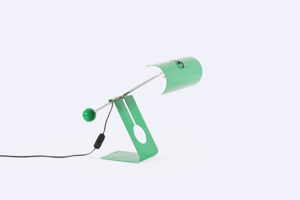 mauro martini picchio charoy lamp steel green 1970 design