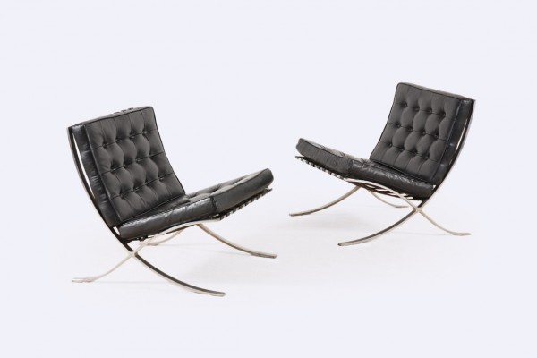 barcelona chair knoll mies rohe black design 1950 1960