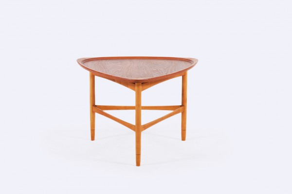 kurt ostervig jason mobler teak tripod coffee table 1960