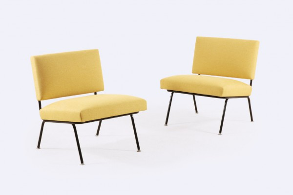 florence knoll international easy chair 31 yellow 1950 1954