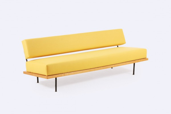 florence knoll international daybed sofa yellow design 1950