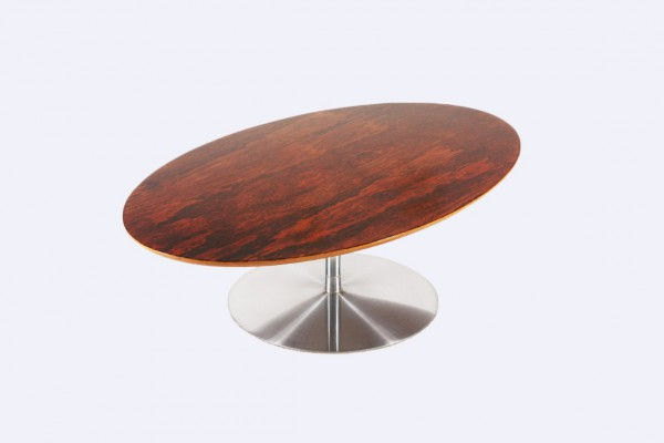 pierre paulin artifort rosewood coffee table oval 1960